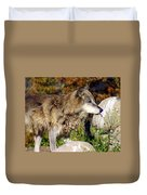 Wolf On Patorl Duvet Cover