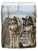 Wolf Pair Duvet Cover