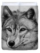 Wolf Sketch Duvet Cover
