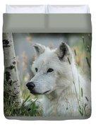Wolf, White Duvet Cover