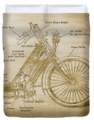 Wolfmueller Motor Cycle 1894 Duvet Cover