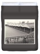 Wolverhampton - Molineux - Molineux Street Stand 1- Bw - Leitch - September 1968 Duvet Cover