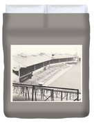 Wolverhampton - Molineux - Waterloo Road Stand 1 - Bw - Leitch - September 1968 Duvet Cover