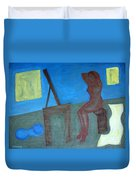 Woman After Bathing Duvet Cover