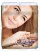 Woman At Beauty Salon Duvet Cover