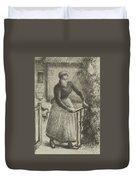 Woman At The Gate Duvet Cover