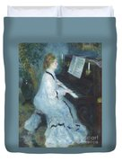 Woman At The Piano Duvet Cover