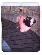 Woman Committing Suicide By Jumping Off Of A Bridge Duvet Cover