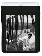 Woman Doing Laundry, C1902 Duvet Cover