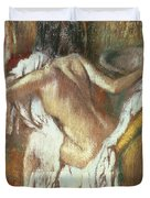 Woman Drying Herself Duvet Cover by Edgar Degas