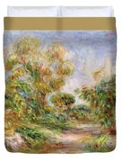 Woman In A Landscape Duvet Cover