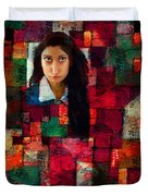 Woman In Abstract 454 Duvet Cover