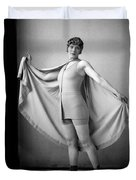 Woman In Bathing Suit And Cape, C.1920s Duvet Cover