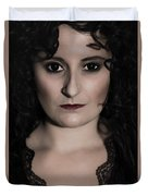 Woman In Black Duvet Cover