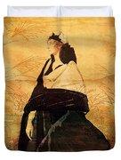 Woman In Black Duvet Cover