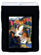 Woman In Color Duvet Cover
