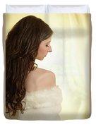 Woman In Her Bedroom Duvet Cover