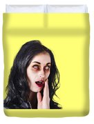 Woman In Horror Makeup Duvet Cover