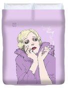 Woman In Lavender Duvet Cover