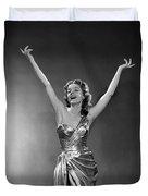 Woman In Metallic Dress, C.1950s Duvet Cover