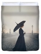Woman In Mourning Duvet Cover