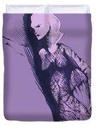 Woman In Shadows Duvet Cover