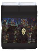 Woman In The Rain Duvet Cover