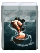 Woman In The Water  Duvet Cover