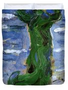 Woman In The Wind By The Sea 1907 Duvet Cover