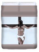 Woman Jesus On Cross I Duvet Cover