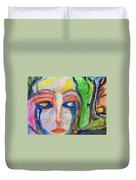Woman Of The Trees Duvet Cover