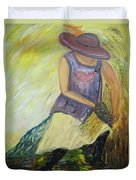Woman Of Wheat Duvet Cover