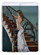 Woman On A Staircase 3 Duvet Cover