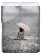 Woman On The Street Duvet Cover by Joana Kruse
