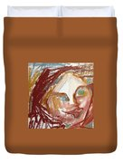 Woman Out Of Present Time Duvet Cover