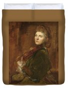 Woman Playing Violin Duvet Cover