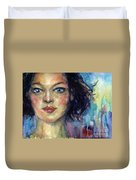 Woman  Portrait 2 Duvet Cover