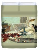 Woman Undressed Duvet Cover