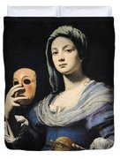 Woman With A Mask Duvet Cover