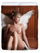 Woman With Angel Wings Duvet Cover