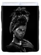 Woman With Beehive Hairstyle And Jewelry Headdress Owner Duvet Cover