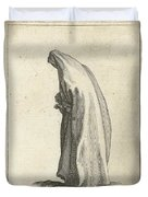 Woman With Long Veil Duvet Cover