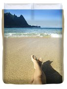 Womans Legs Relaxing Duvet Cover by Kicka Witte - Printscapes