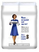 Women's Army Corps - Ww2 Duvet Cover