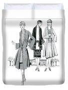 Womens Fashion, 1926 Duvet Cover