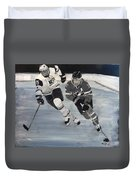 Women's Hockey Duvet Cover by Richard Le Page