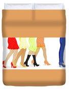 Womens Leg Dots Duvet Cover