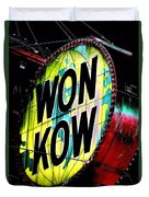 Won Kow, Wow 3 Duvet Cover by Marianne Dow