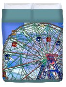 Wonder Wheel Amusement Park 3 Duvet Cover