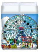 Wonder Wheel Amusement Park 6 Duvet Cover